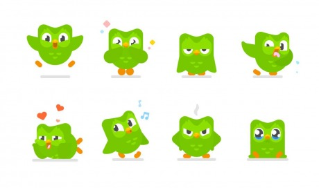 Duolingo different Faces